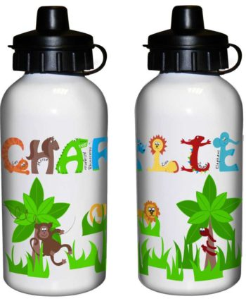 Personalised Jungle Animal Alphabet Drinks Bottle
