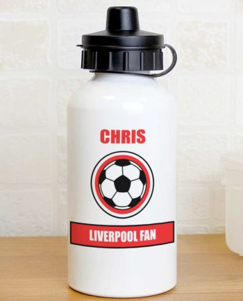 Personalised Red Football Fan Drinks Bottle