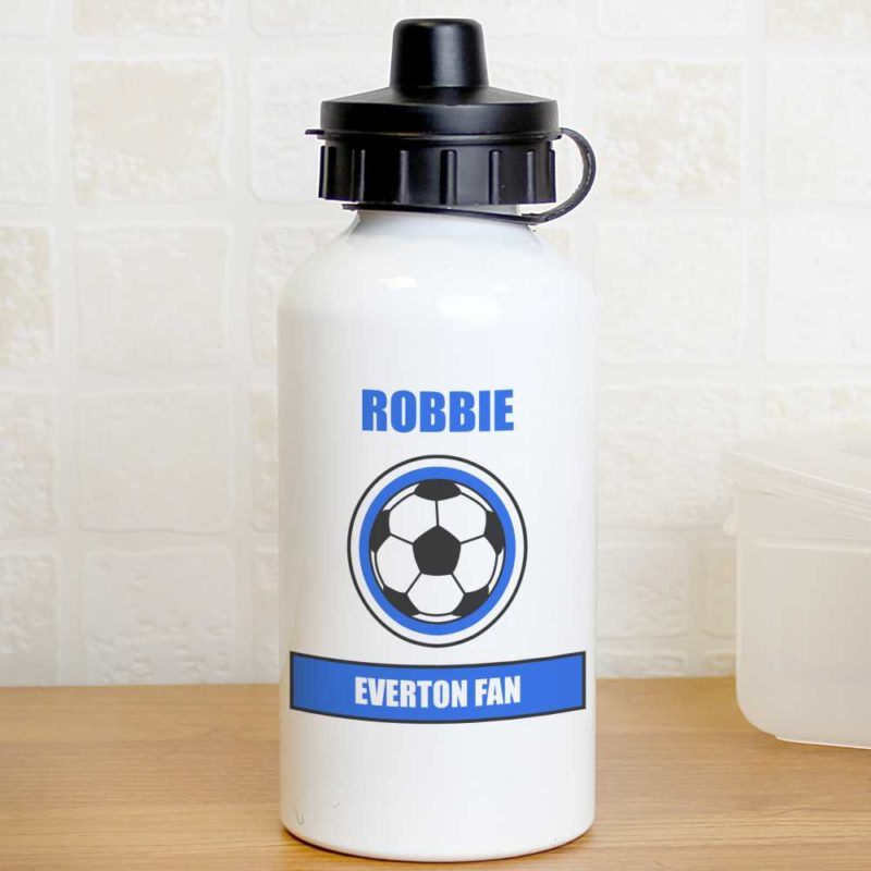 Personalised Royal Blue Football Fan Drinks Bottle