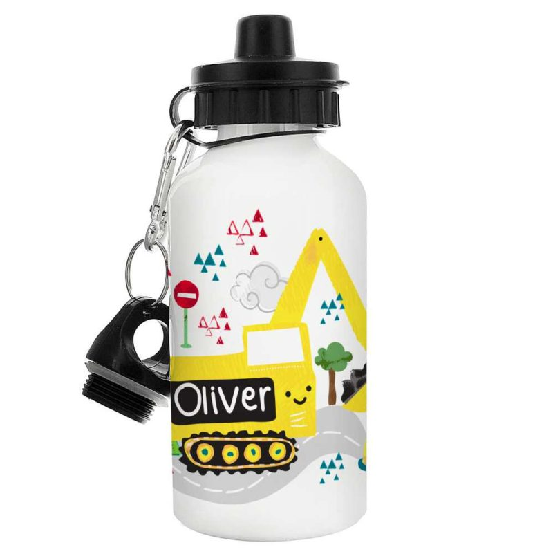 Personalised 'Yellow Digger' Drinks Bottle