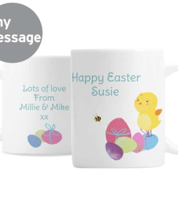Personalised Easter Eggs and Cute Chick Mug