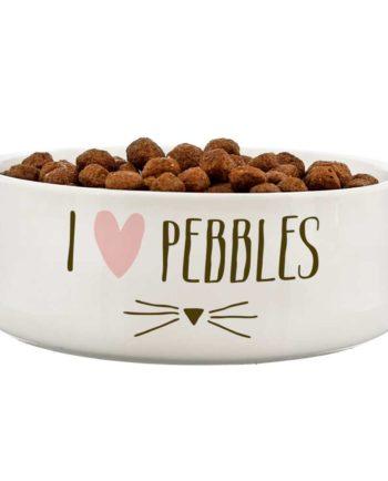 Personalised Cat Features 14cm Medium White Pet Bowl