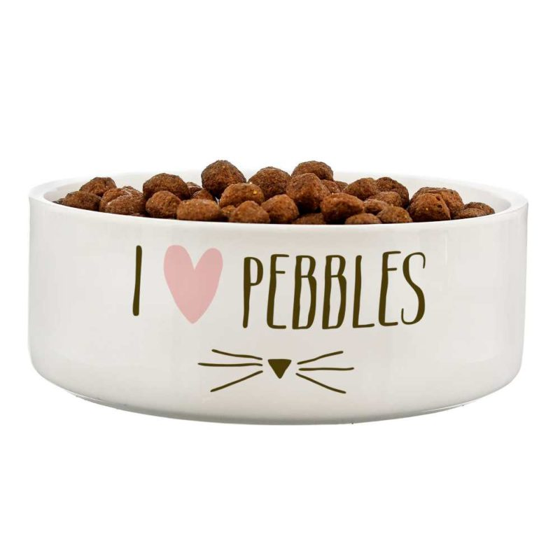 Personalised Cat Whiskers Food Bowl