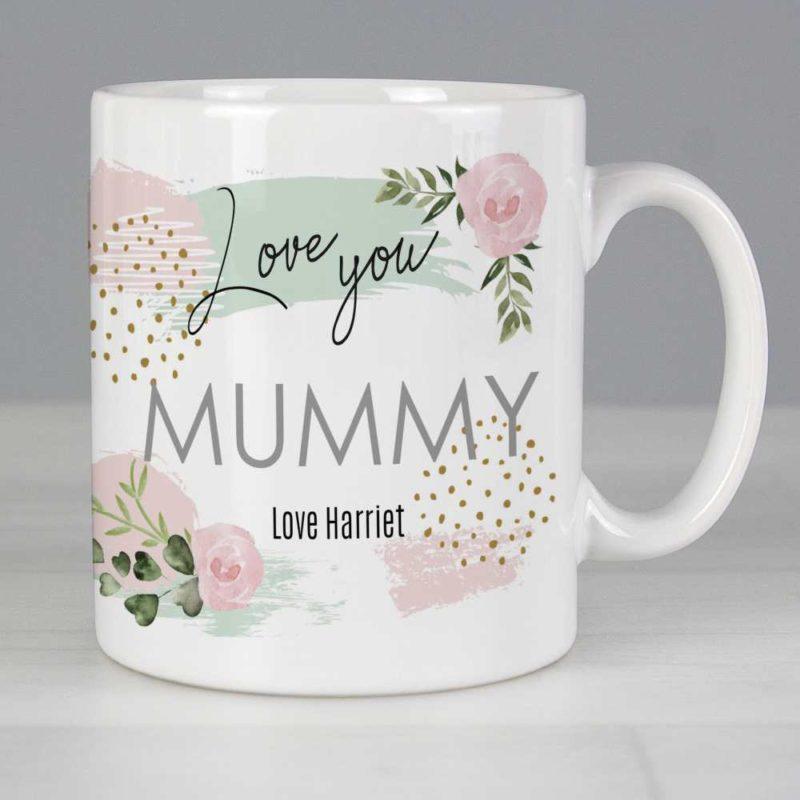 Personalised Pastel Rose 'Love You' Mug