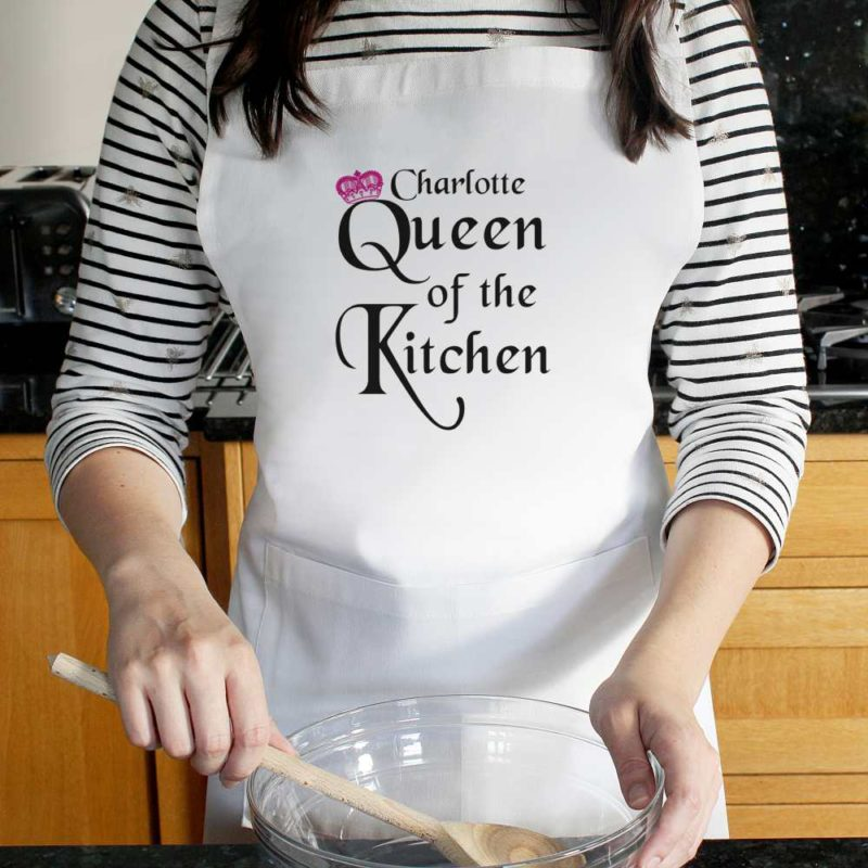Personalised 'Queen of the Kitchen' Apron