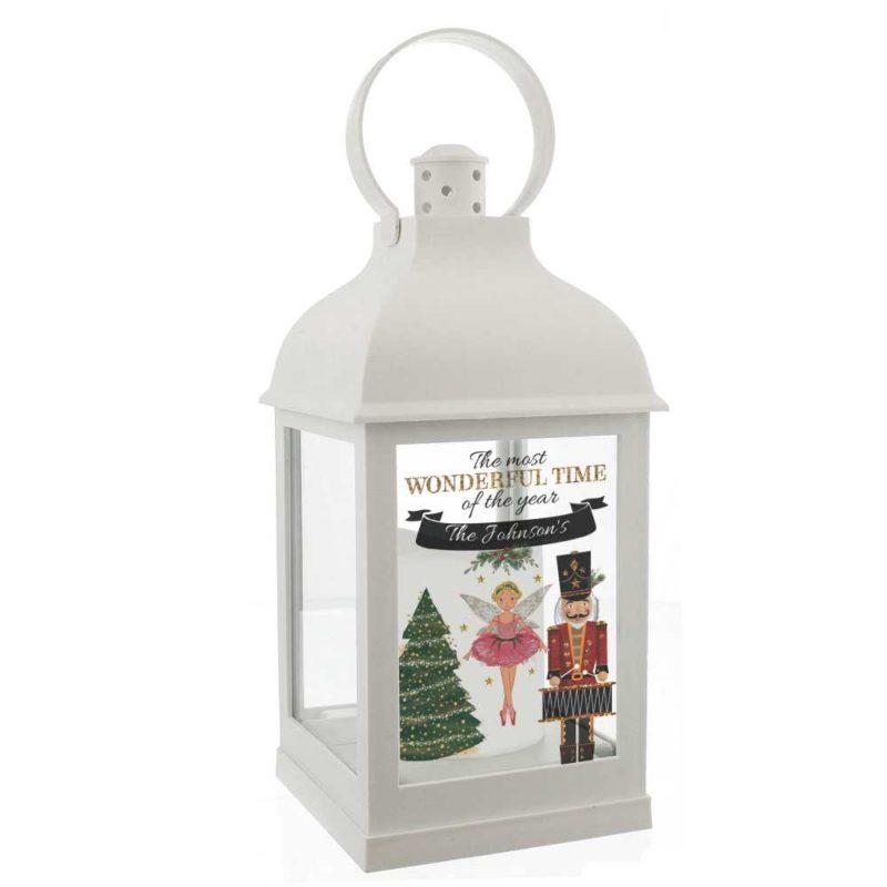Personalised 'Nutcracker' White Lantern