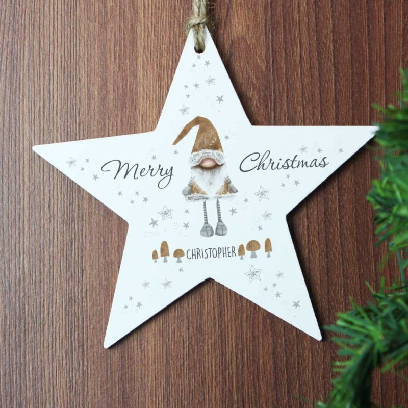 Personalised Christmas Gonk Star Decoration