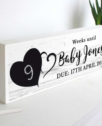 Personalised Countdown Wooden Block Sign