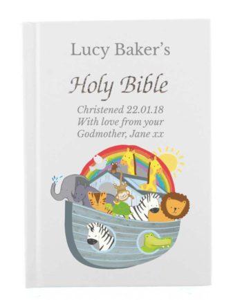 Personalised 'Noah's Ark' Holy Bible