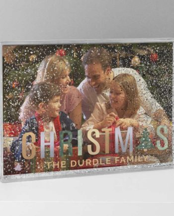 Personalised Christmas Glitter Shimmer 'Our Family' 6x4 Photo Frame