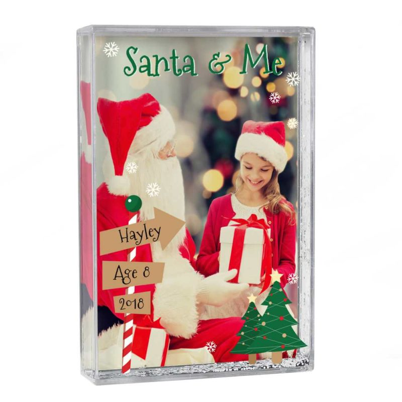 Personalised 'Santa & Me' Glitter Shaker Photo Frame