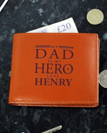 Personalised 'Dad' Leather Wallet