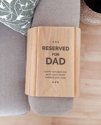 Personalised Wooden Sofa Armrest Tray