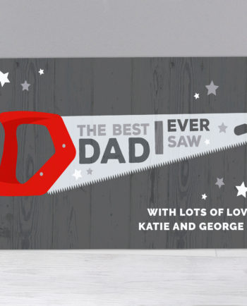 "Personalised ""The Best Dad Ever"" Metal Sign"