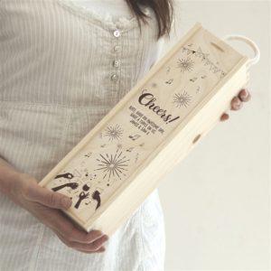 Personalised 'Cheers!' Wine Gift Box