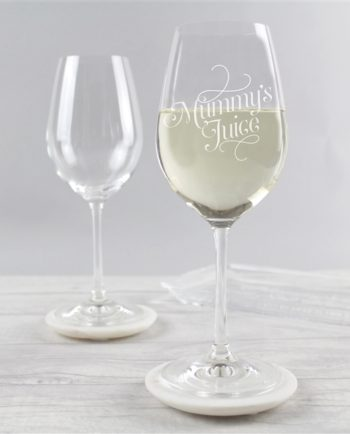 'Mummy's Juice' Wine Glass
