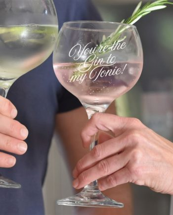 'Gin to My Tonic' Balloon Gin Glass