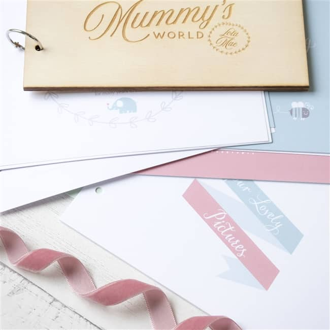 Personalised Mummy's & Daddy's Wooden Baby Record Book