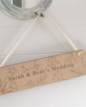 Personalised Rustic Flower Wedding Sign