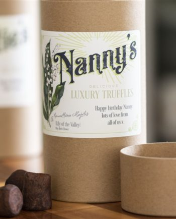 Personalised Birth Flower Chocolate Truffles