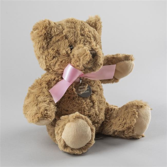 Personalised Baby Girl Small Bramble Bear