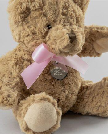 Personalised Baby Girl Bramble Bear