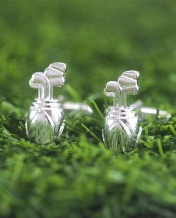 Golf Bag Cufflinks in Personalised Gift Box
