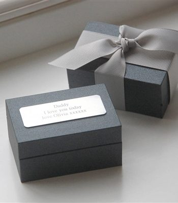 Golf Bag Cufflinks in Personalised Gift Box