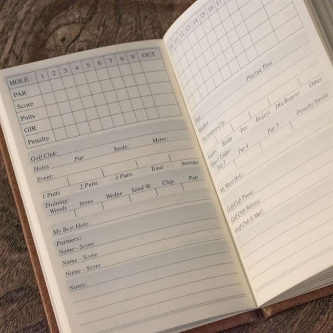 Personalised Golf Score Book