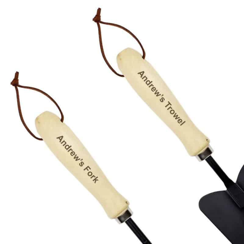 Personalised Fork & Trowel Set
