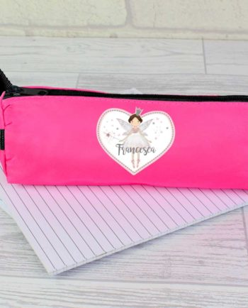 Personalised Magical Fairy Hot Pink Pencil Case