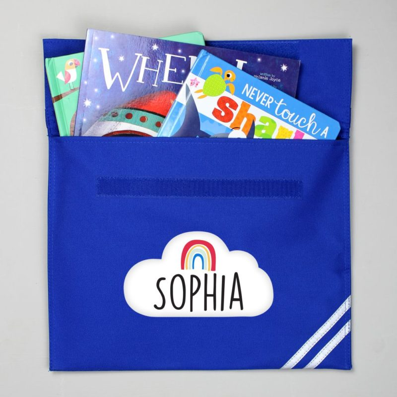 Personalised Rainbow and Cloud Book Bag