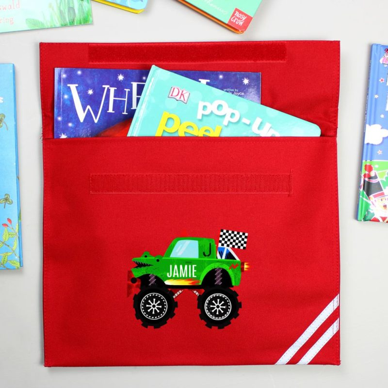 Personalised Monster Truck Book Bag