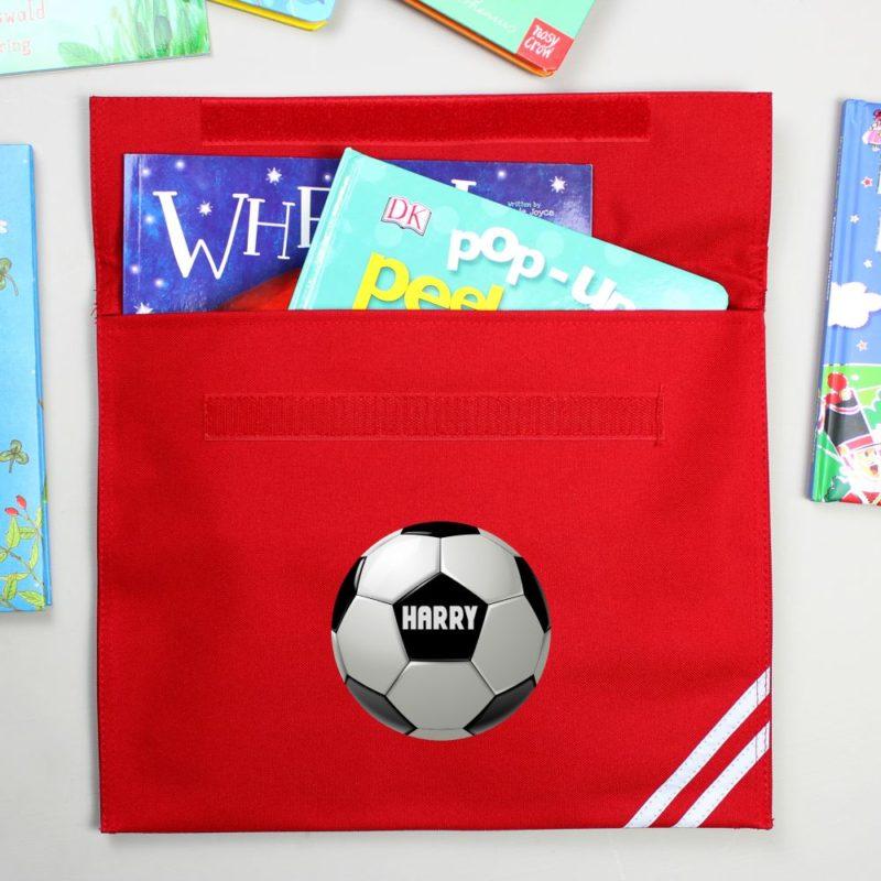 Personalised Football School Book Bag
