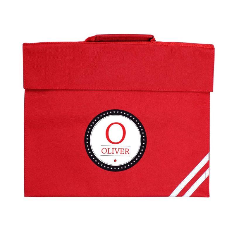 Personalised Initial Logo Book Bag