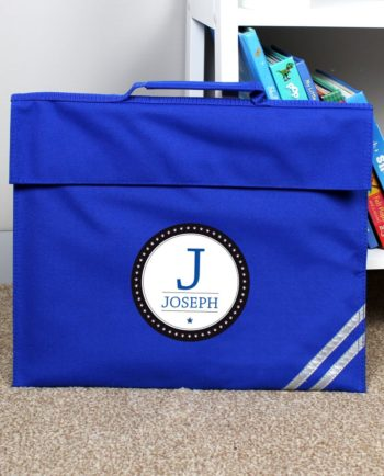 Personalised Initial Logo Book Bag