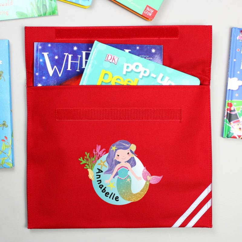 Personalised Cute Mermaid Book Bag