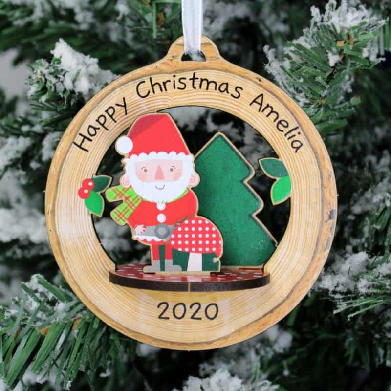 Personalised Make Your Own 3D Santa Christmas Decoration