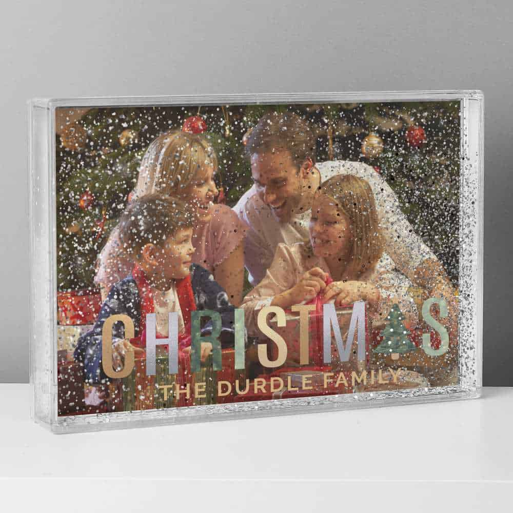 christmas familly photo personalised frame
