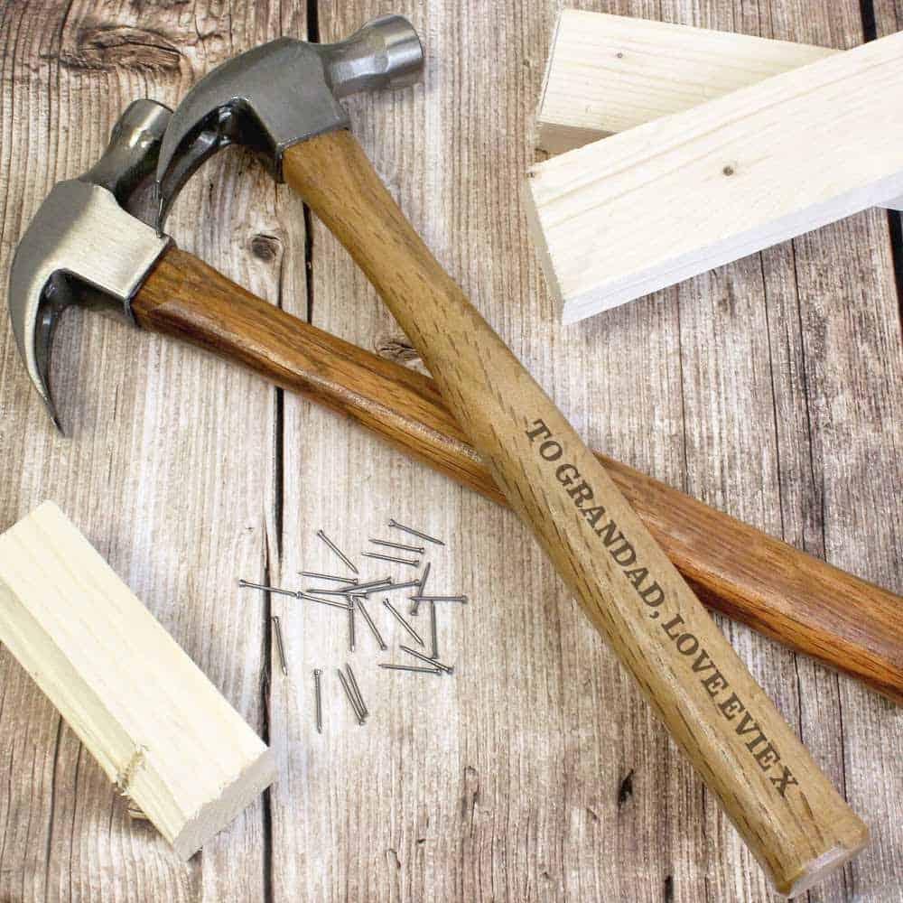 grandad personalised diy hammer