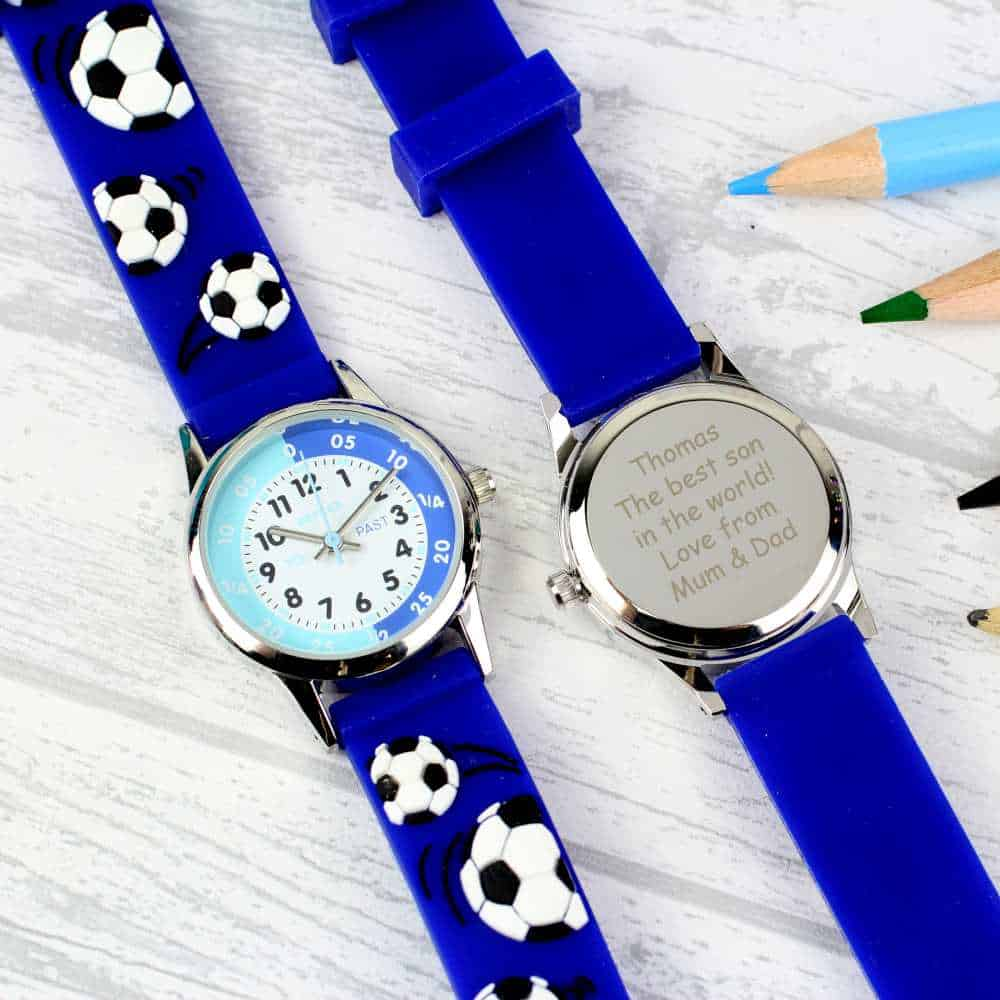 persoanlised watch for boys to help them tell the time