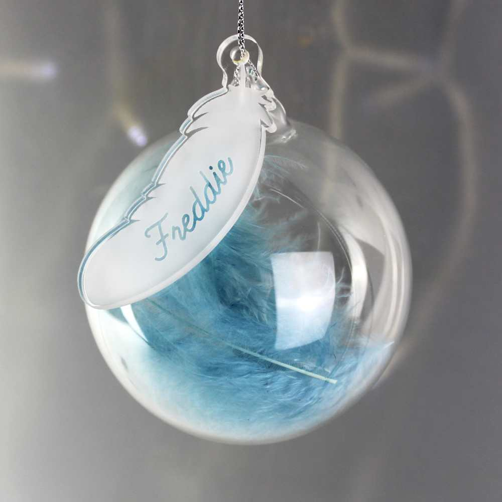 personalised baby boy christmas baubles