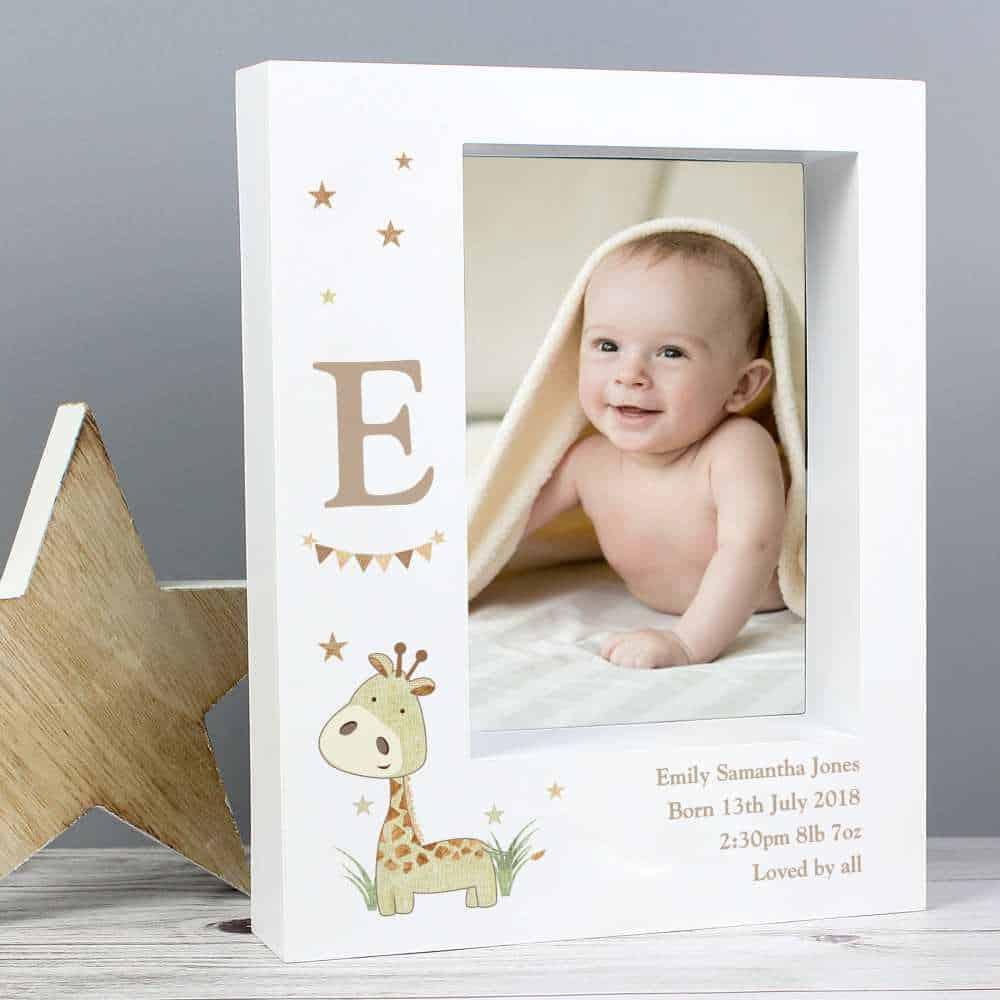 personalised baby photo frame