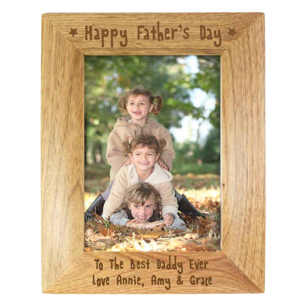 personalised best dad photo frame