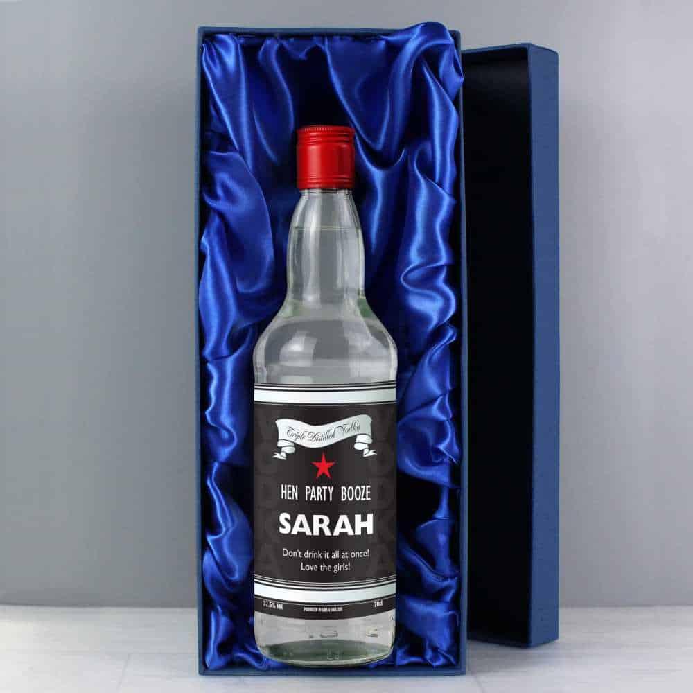 personalised bottle of vodka for best friend