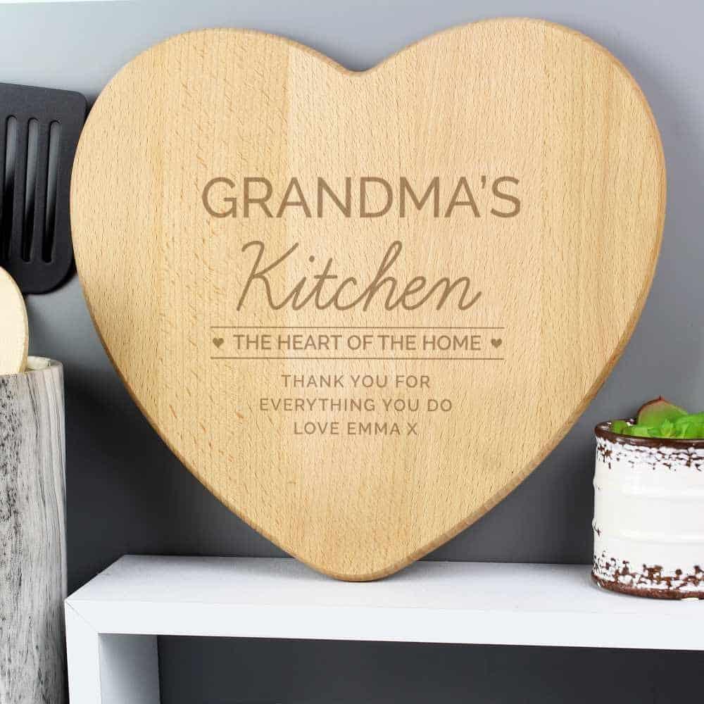 personalised chopping borard for grandma