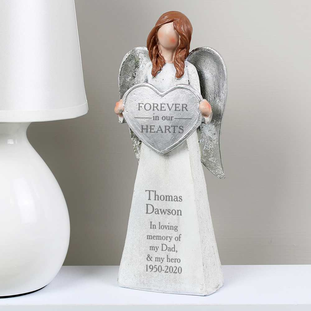 personalised christmas angel in memory of ornament