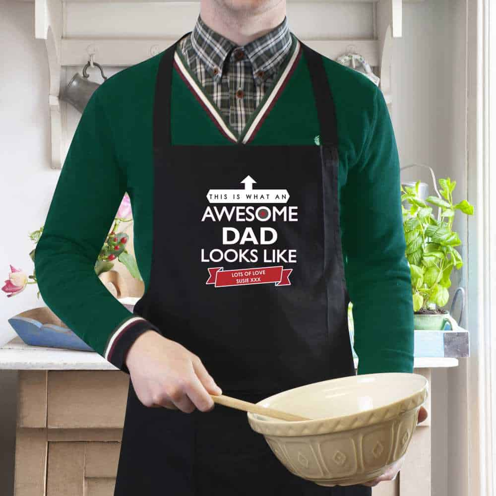 personalised dad apron uk