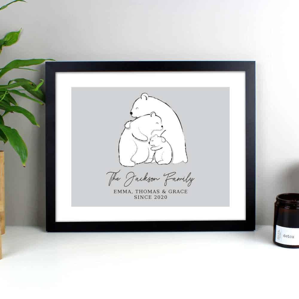 personalised family photo for her