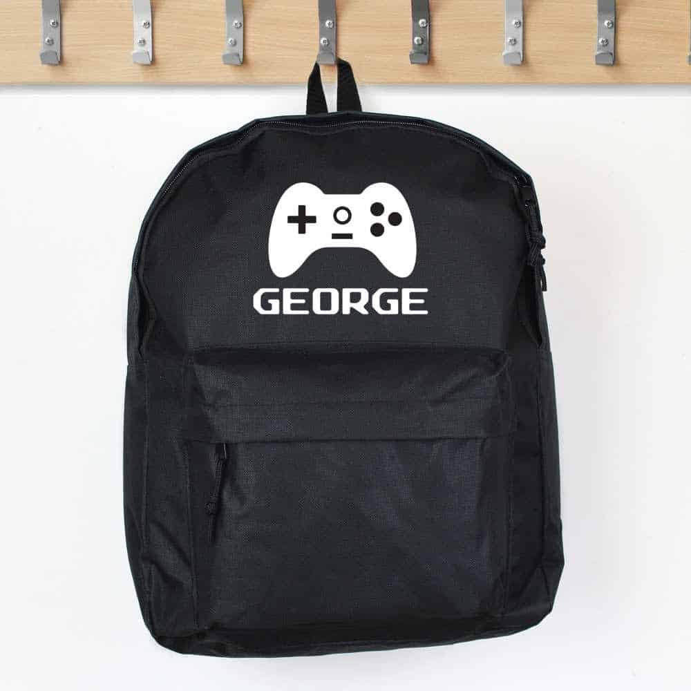 personalised gaming theme backpack for boys school